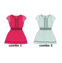 136920 Psychotropical small girls dress combo 2 omphalodes  (6 pcs)