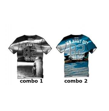 Youth tonic teen boys shirt combo 2 blue (6 pcs)