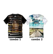 136940 Youth tonic teen boys shirt combo 2 light gray melange (6 pcs)