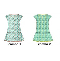 136954 Kinship small girls dress combo 2 butter cup (6 pcs)
