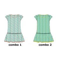 136954 Kinship small girls dress combo 2 butter cup (6 pcs)