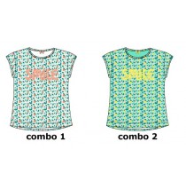 136956 Kinship small girls shirt  combo 2 butercup (6 pcs)