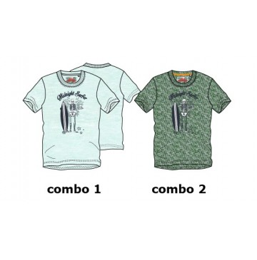 Psychotropical teen boys shirt combo 2 thyme (6 pcs)