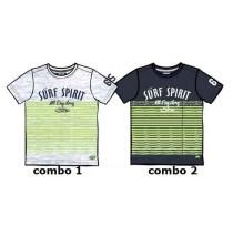 137010 Psychotropical Small boys shirt combo 2 blue nights (6 pcs)
