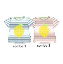 137016 Kinship baby girls shirt combo 2 hibiscus (4 pcs)
