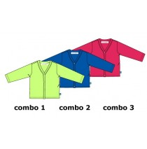 137022 Kinship baby girls cardigan sweat combo 3 azalea (4 pcs)