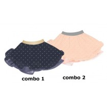 Youth Tonic baby girls skirt combo 2 strawberry cream (4 pcs)