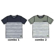 137038 Psychotropical Small boys shirt combo 2 titanium (6 pcs)