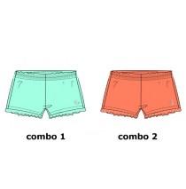 Kinship small girls short combo 2 living coral (6 pcs)