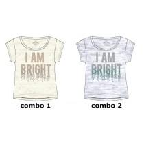 Kinship small girls shirt  combo 2 light grey melange (6 pcs)