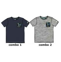 137102 Psychotropical Small boys shirt combo 2 grey melange (6 pcs)