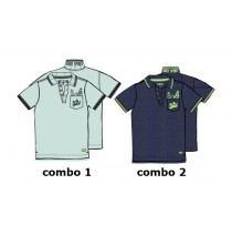 Psychotropical small boys polo combo 2 blue nights (6 pcs)