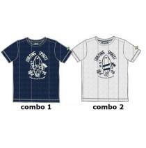 137110 Psychotropical Small boys shirt combo 2 marshmallow (6 pcs)