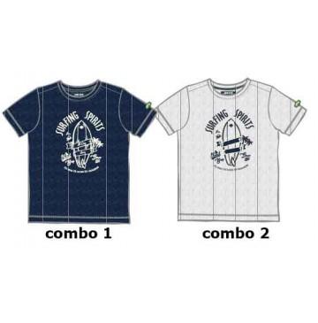 Psychotropical Small boys shirt combo 2 marshmallow (6 pcs)
