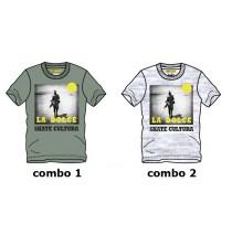 137183 Youth tonic teen boys shirt combo 2 light gray melange (6 pcs)