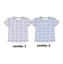 Psychotropical baby girls shirt combo 2 omhalodes (4 pcs)