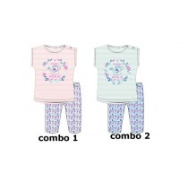 137197 Psychotropical baby girls set: shirt+legging combo 2 omphalodes (4 pcs)