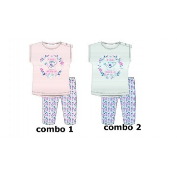 Psychotropical baby girls set: shirt+legging combo 2 omphalodes (4 pcs)