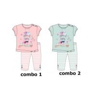 137205 Psychotropical baby girls set: shirt+legging combo 2 omphalodes (4 pcs)