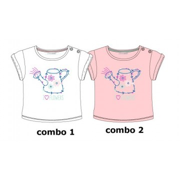 Psychotropical baby girls shirt combo 2 orchid pink (4 pcs)