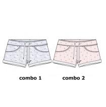 Kinship small girls short combo 2 pink melange (6 pcs)