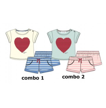 137221 Youth Tonic baby girls set: shirt+short combo 2 omphalodes (4 pcs)