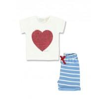 137221 Youth Tonic baby girls set: shirt+short combo 1 marshmallow (4 pcs)