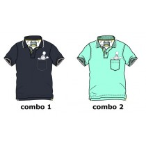 137225 Youth Tonic Teen boys polo combo 2 tropic blue (6 pcs)