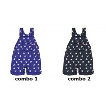 Kinship baby boys overall combo 2 blue nights (4 pcs)