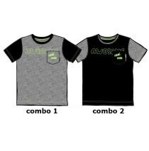 137249 Youth Tonic Small boys shirt combo 2 black (6 pcs)