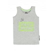 137252 Youth tonic small boys singlet gray melange+sharp green (12 pcs)