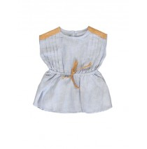 137256 Kinship baby girls dress blue + strawberry cream (8 pcs)