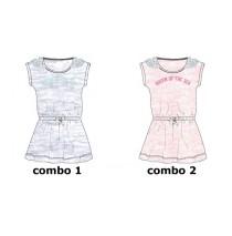 Mermaids small girls dress combo 2 pink melange (6 pcs)