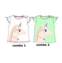 Youth Tonic baby girls shirt combo 2 jade cream (4 pcs)
