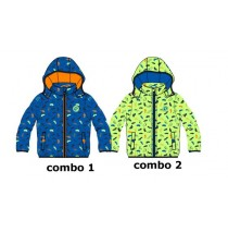 Psychotropical baby boys jacket combo 2 sharp green (4 pcs)
