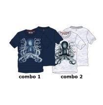 Kinship teen boys shirt combo 2 light grey melange (5 pcs)