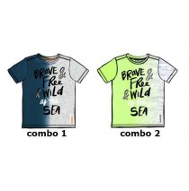 kinship Small boys shirt combo 2 sharp green (6 pcs)