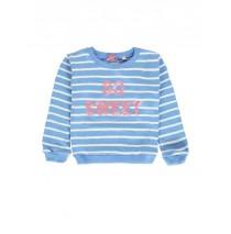 137349 Psychotropical small girls sweatshirt silver lake blue (5 pcs)