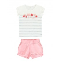 137408 Mermaids small girls set: singlet+short pink + blue (12 pcs)