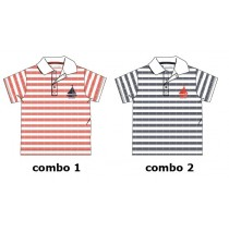 Youth Tonic baby boys polo combo 2 blue nights (4 pcs)