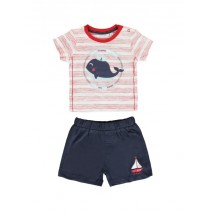 Youth Tonic baby boys set: shirt+short combo 1 hibiscus (4 pcs)