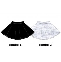 137496 Youth Tonic Teen girls skirt combo 2 light grey melange (6 pcs)
