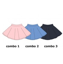 Psychotropical small girls skirt combo 2 silver lake blue  (6 pcs)
