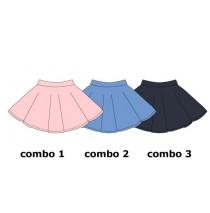 Psychotropical small girls skirt combo 2 silver lake blue  (6 pcs)