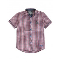 137519 Kinship teen boys blouse red/navy checks (10 pcs)
