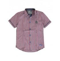 137519 Kinship teen boys blouse red/navy checks (5 pcs)