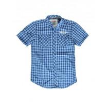 137521 Psychotropical teen boys blouse blue/navy checks (5 pcs)