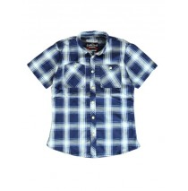 Kinship teen boys blouse navy/ecru checks (5 pcs)
