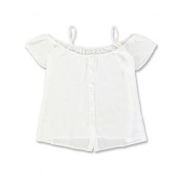 Mermaids Teen girls blouse optical white (5pcs)