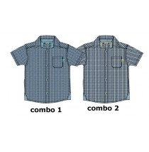 Psychotropical baby boys blouse combo 2 snapdragon checks (4 pcs)